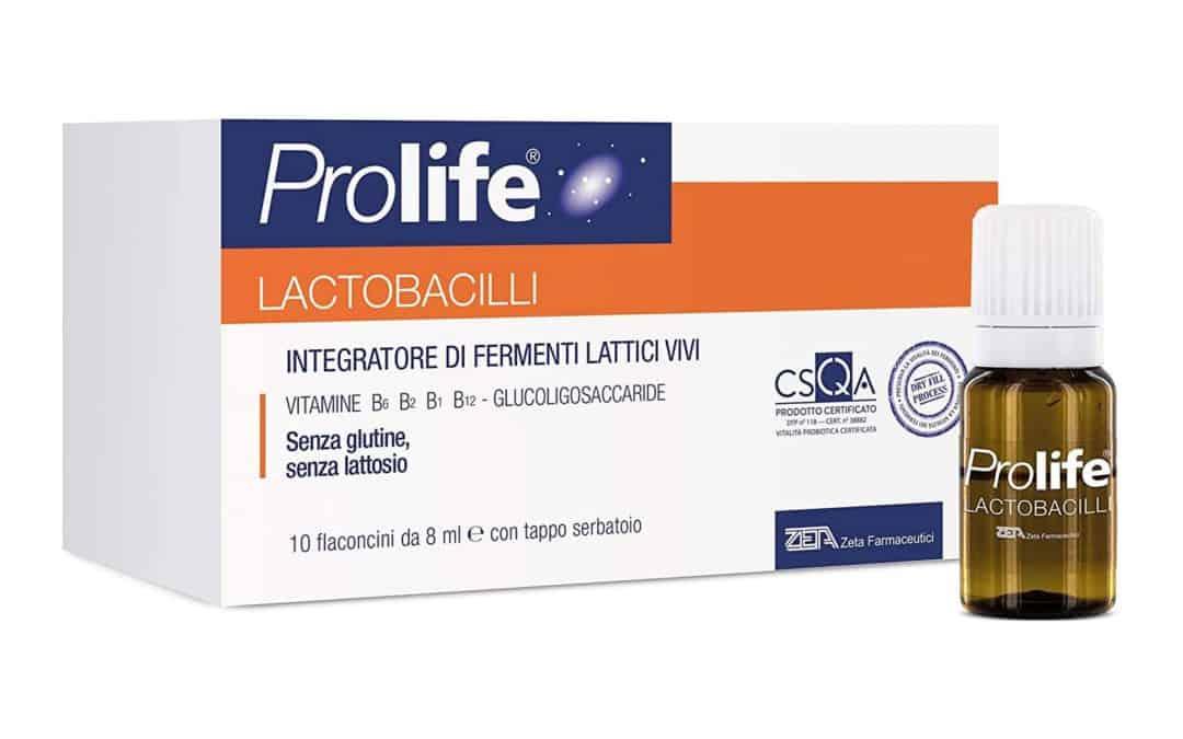 Prolife Lactobacilli – Integratore per l'equilibrio della flora batterica intestinale – 7 flaconcini
